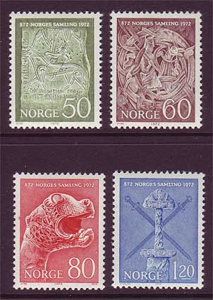 NO0586-891 Norway Scott # 586-89 MNH, Ancient Artifacts 1972