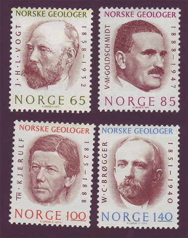 NO0639-421 Norway Scott # 639-42 MNH, Geologists 1974
