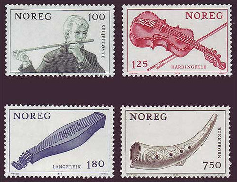 NO0734-371 Norway Scott # 734-37 MNH, Musical Instruments 1978