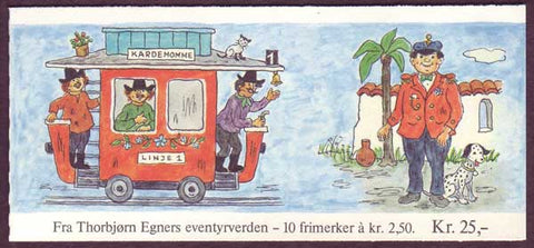 NO0852a Norway booklet Scott # 853a, Children's Stories 1984
