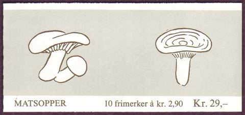 NO0887a Norway booklet Scott # 887a, Mushrooms II 1988
