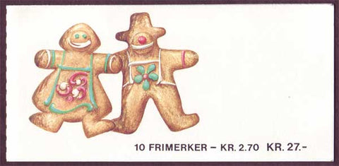NO0921a Norway booklet Scott # 921a, Christmas II 1987
