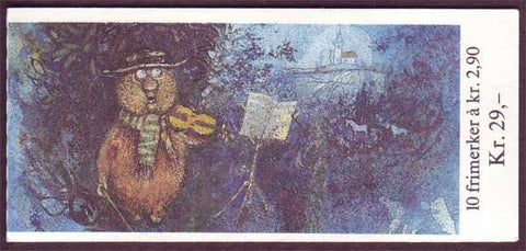 NO0936a Norway booklet Scott # 936a, Christmas 1988