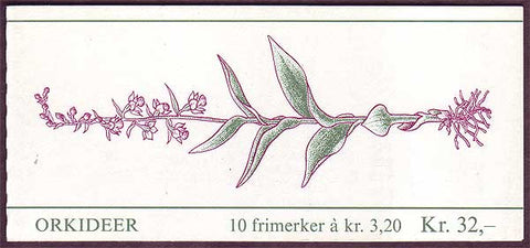 NO0971a Norway booklet Scott # 971a, Orchids I 1990
