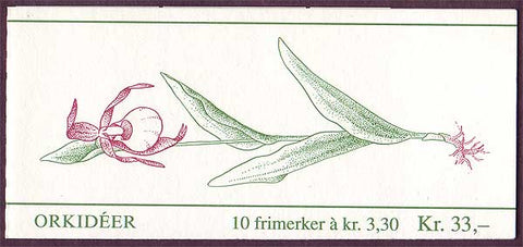 NO0973a Norway booklet Scott # 973a, Orchids II 1992