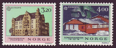 NO0980-811 Norway Scott # 980-81 MNH, Europa 1991 - Post Offices