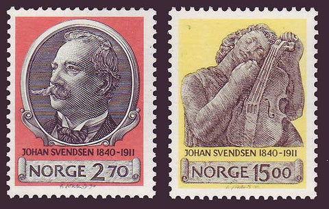 NO0982-831 Norway Scott # 982-83 MNH, Johan Svendsen 1990