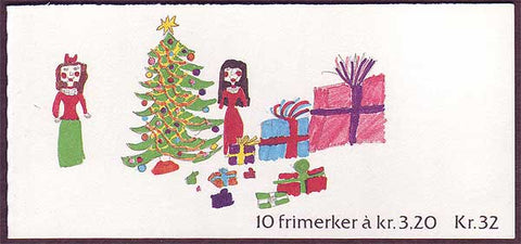 NO0987a Norway booklet Scott # 987a, Christmas 1990