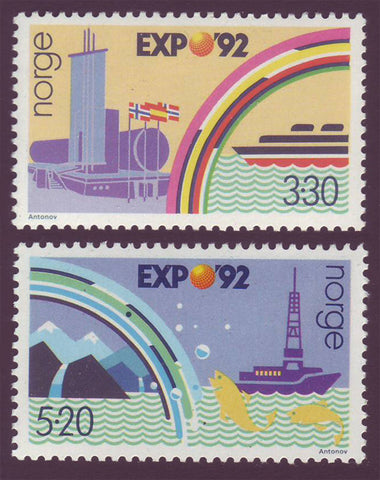 NO1022-23 Norway Scott # 1022-23 MNH, Expo '92 Seville  1992