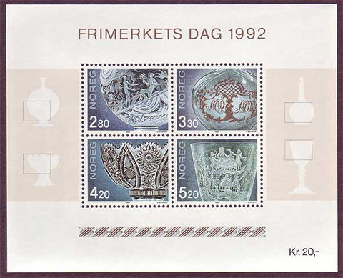 NO10281 Norway  Scott # 1028 MNH, Stamp Day 1992