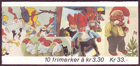 NO1032b Norway booklet Scott # 1032b, Christmas 1992