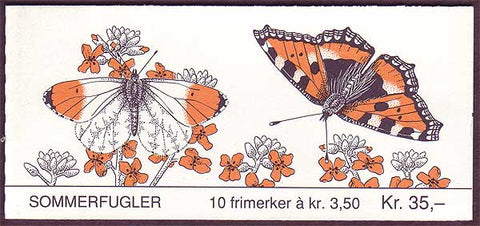 NO1034b Norway booklet Scott # 1034b, Butterflies 1993
