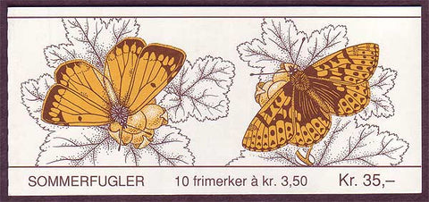 NO1052b Norway booklet  Scott # 1052b, Butterflies II  1994
