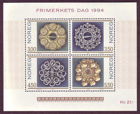 NO10691 Norway  Scott # 1069 MNH, Stamp Day 1994