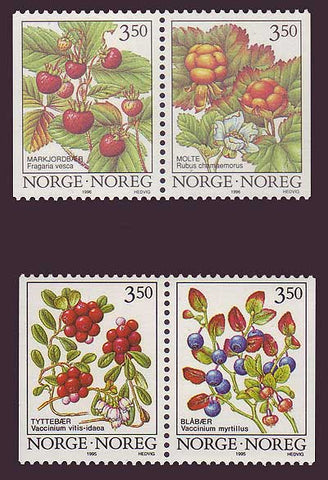 NO1086-891 Norway Scott # 1086-89 MNH, Berries 1995-96