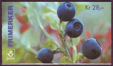 NO1087a Norway booklet Scott # 1087a, Wild Berries 1995