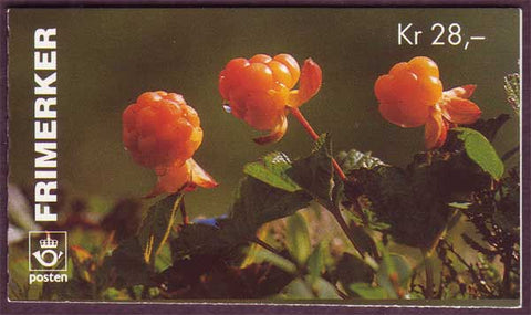 NO1089a Norway booklet Scott # 1089a, Wild Berries II 1996