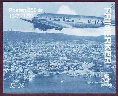 NO1133a Norway booklet Scott # 1133a, Post Office 350th Anniversary 1996
