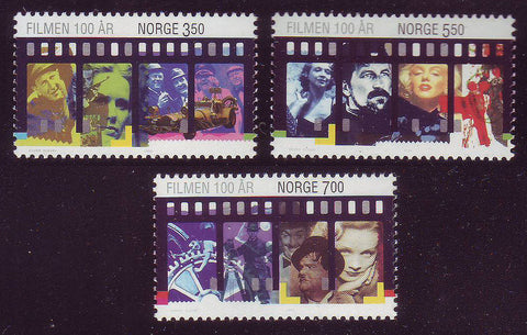 NO1134-361 Norway Scott # 1134-36 MNH, Motion Pictures Centennial 1996