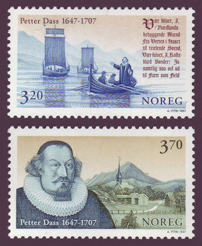 NO1176-771 Norway Scott # 1176-77 MNH, Petter Dass 1997