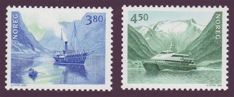 NO1189-901 Norway Scott # 1189-90 MNH, Coastal Shipping 1998