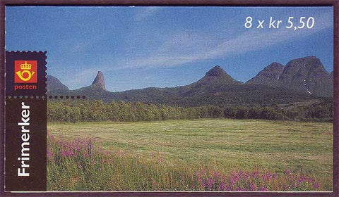 NO1193a Norway booklet Scott # 1193a, Tourism 5.50kr 1998