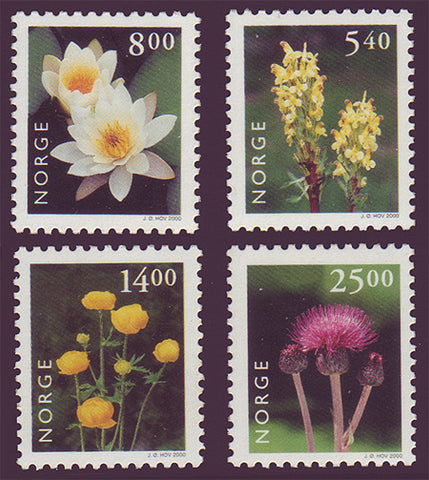 NO1244-471 Norway Scott # 1244-47 MNH, Wildflowers 2000