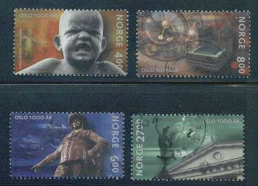 NO1249-525 Norway Scott # 1249-52 MNH, Oslo 1000th Anniversary 2000