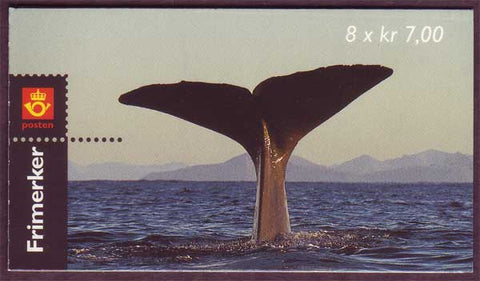 NO1255a Norway booklet Scott # 1255a, Sperm Whale 2000