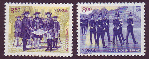 NO1258-591 Norway Scott # 1258-59 MNH, Military Academy 2000
