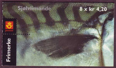 NO1262a Norway booklet Scott # 1262a, Fish and Net 2000