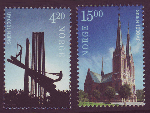 NO1266-671 Norway Scott # 1266-67 MNH, Skien 1000th Anniversary 2000