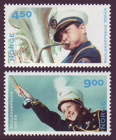 NO1292-931 Norway Scott # 1292-93 MNH, School Bands Centenary 2001