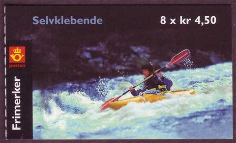 NO1294a Norway booklet Scott # 1294a, Kayaking 2001