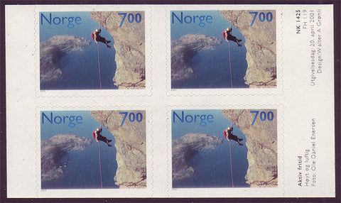NO1295a1 Norway Scott # 1295a MNH,  Rock Climbing 2001