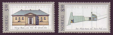 NO1296-971 Norway Scott # 1296-97 MNH, Architecture 2001
