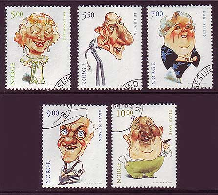 NO1298-025 Norway Scott # 1298-02 MNH, Actors II  2001