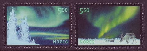 NO1318-191 Norway Scott # 1318-19 MNH, Aurora Borealis - 2001