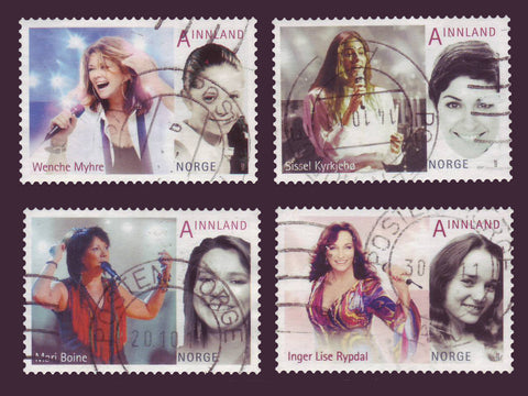 NO1657-605 Norway Scott # 1653-56 VF Used, Female Pop Singers - 2011