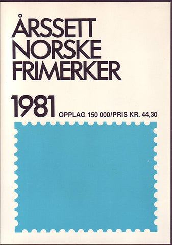 NO1981a Norway 1981 Official Year Set