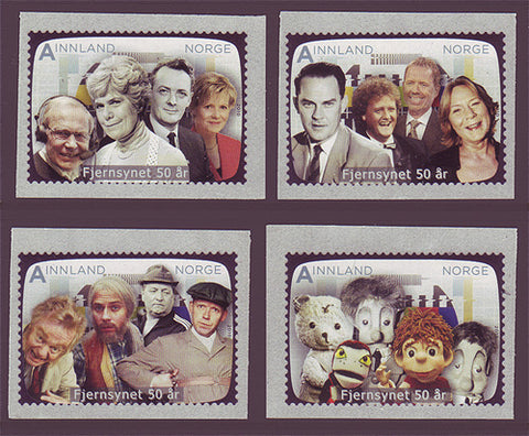 NO1620-23 Norway Scott # 1620-23 MNH, Television 50th Anniversary - 2010