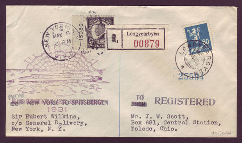 NO5044  Wilkins-Ellsworth Expedition Cover - 1931