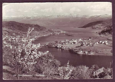 NO5059PH Norway, Hardanger - Postcard to England 1960