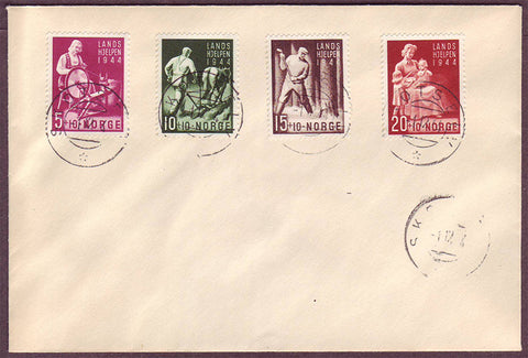 NO5111PH Norway       First Day Cover,      People at Work 1944