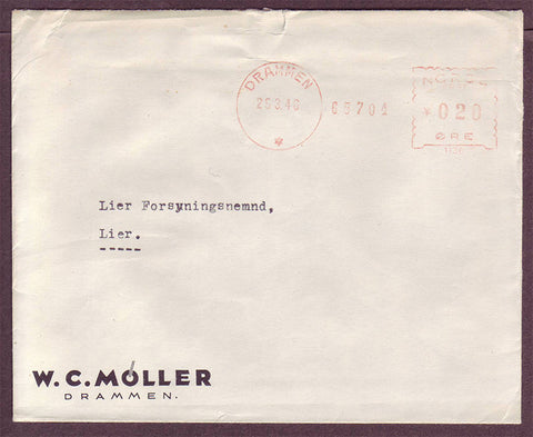 NO5122PH Norway, Illustrated Advertising Cover - W.C. Moller 1940