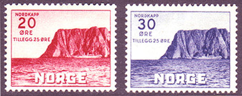 NOB09-10 Norway Scott # B9-10 VF MH,  Nordkapp 1938
