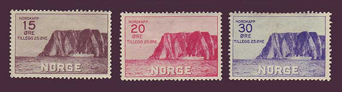 NOB01-035PH Norway Scott # B1-B3 VF H, Nordkapp 1930