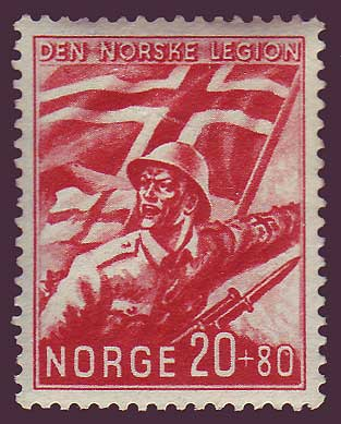 NOB242 Norway Scott # B24 VF MH, Norwegian Legion 1941
