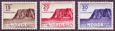 NOB28-302 Norway Scott # B28-30 MNH**, Nordkapp 1943
