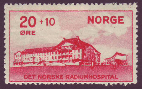 NOB04 Norway Scott # B4 VF MNH, Radium Hospital 1931